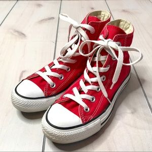 Converse Red All Stars Chucks High Top Sneakers
